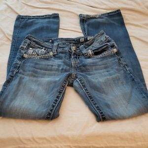Miss Me Distressed Bootcut Jeans Size 26